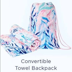 NWT Lilly Pulitzer GWP towel backpack